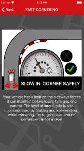Redtail driver scoring app - fast cornering explained
