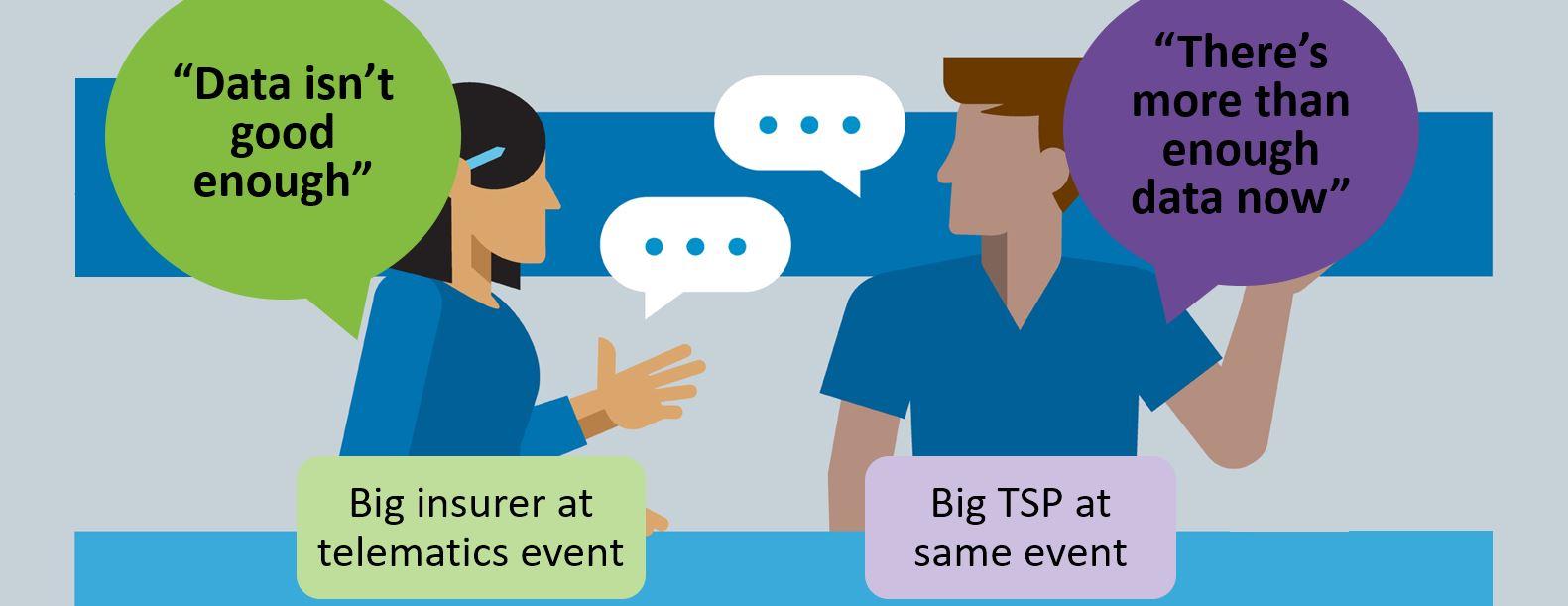 right data vs any data - big insurer vs TSP